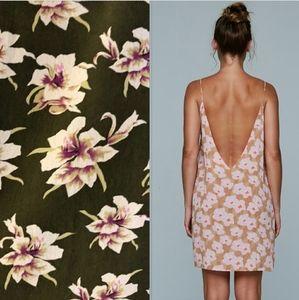 New acacia Flores capsule aloha mini dress brown S